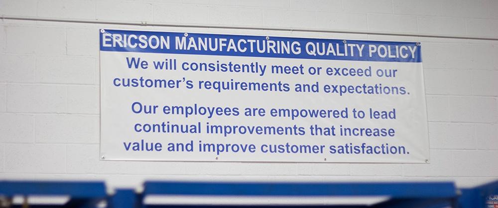 Ericson Quality Policy